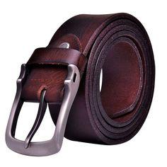 Men s Genuine Leather Antique Casual Style Dress Jean Single Prong Belt teemzone