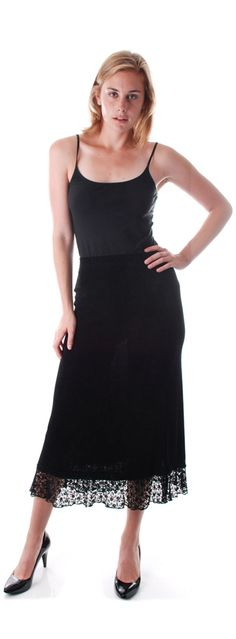 Long Skirt with Lace Border
