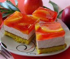 Ciasto z brzoskwiniami i galaretką - PrzyslijPrzepis.pl Cantaloupe, Cheesecake, Fruit, Food, Image, Cheesecakes, Essen, Meals, Yemek