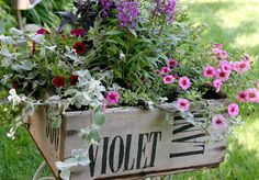 Club Scrap Creates: Stamping In The Garden - I stamped my friends street name on an old wooden crate and gifted the garden box to her.