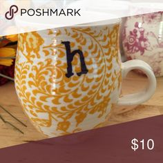 ANTHROPOLOGIE HOMEGROWN MONOGRAM MUG Selling this Anthropologie monogrammed mug | Letter H| No Chips or Cracks | Bottom pictured with the classic Anthropologie bird | Cute! 💕 Anthropologie Other