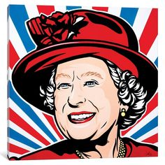 Queen Elizabeth Painting - Queen Elizabeth II by James Lee Queen Elizabeth Portrait, Queen Elizabeth Ii, Diy Canvas Art, Canvas Artwork, Canvas Prints, Desenho Pop Art, Art Archive, Art Plastique, Portrait Art