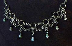 Chain Mail Choker - no specific directions but many other good things on site and this looks easy enough to figure out.  Replace the maille with chain. #wire #jewelry #tutorial