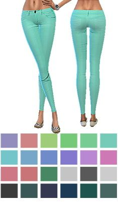 Skinny jeans at Gisheld via Sims 4 Updates