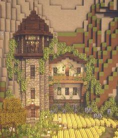 Minecraft House Plans, Minecraft Mansion, Minecraft Houses Survival, Cute Minecraft Houses, Minecraft House Tutorials, Minecraft Room, Amazing Minecraft, Minecraft Tutorial, Minecraft Blueprints