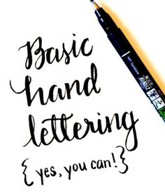 Basic Hand Lettering Tutorial - One Artsy Mama - I absolutely this site ! Maybe it was the gorgeous photos, or simple instruction - yes, you can ! Creative Lettering, Brush Lettering, Lettering Styles, Lettering Ideas, Simple Lettering, Doodle Lettering, Lettering Design, Do It Yourself Inspiration, Style Inspiration