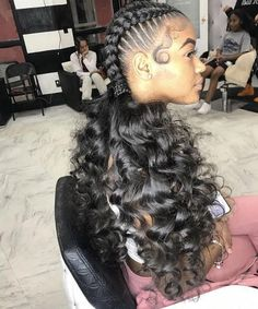 Criss-Cross Goddess Braids - 70 Best Black Braided Hairstyles That Turn Heads in 2019 - The Trending Hairstyle Ponytail Hairstyles, Weave Hairstyles, Cute Hairstyles, Gorgeous Hairstyles, Black Hairstyles, Fashion Hairstyles, School Hairstyles, Hairdos, Braids With Curls