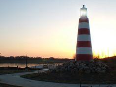 Lake Cunningham lighthouse, Omaha, Nebraska