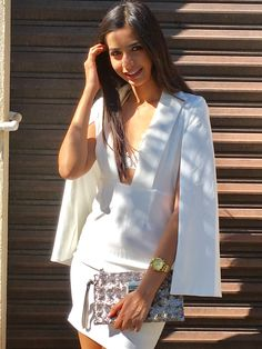 White dress with bralette!!!potpourri Acapulco