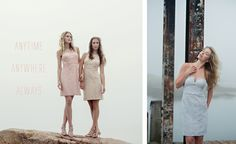 Got to love a lady in lace// #DonnaMorgan Harlow dresses in Pearl Pink & Fawn, Quinn dress in Platinum // http://www.donna-morgan.com/magazine #DonnaMorgan #Serenity #bridesmaidsdresses #wedding #weddingplanning #bridesmaids #lacedresses