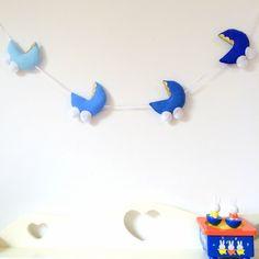 Blue Pram Garland | baby, babyboy, baby nursery, babyroom, babygift, bedroomdecor, babyshower, felt