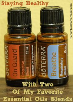 These are two essential oils blends that I never leave home without! OnGuard and Breathe keep my family healthy all winter long!