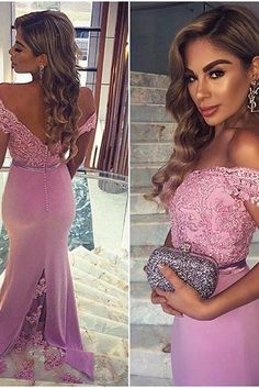 Hot Sales Sexy Light Plum Long Prom Dresses,Mermaid Prom Dresses,Lace Prom Dresses,Backless Evening Dresses,Prom Gowns
