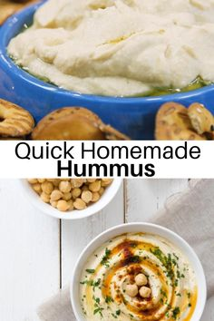 Quick, easy, and authentic this Homemade Hummus is better than store bought! #homemade #easyrecipes #mediterranean