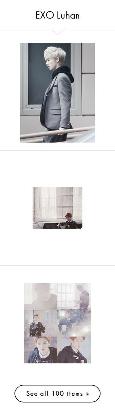 """""""EXO Luhan"""" by jaehwapark ❤ liked on Polyvore featuring kpop, EXO, exom, luhan, exo, idols, tops, t-shirts and lu han"""