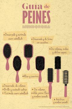 Guía de cepillos para que uses el correcto según el acabado que quieras conseguir en tu pelo.: