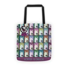 All-Over Printed Tote With Your Pet Photo and Design 1 PopArt Style Photo Processing, Denim Bag, Your Pet, Pop Art, Take That, Reusable Tote Bags, Design Inspiration, Printed, Retro