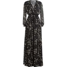 Womens Black print cold shoulder maxi dress River Island oloSrtmkH