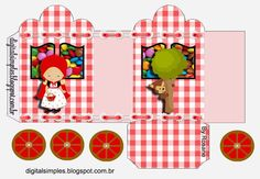 Little Red Riding Hood: Princess Carriage Shaped Free Printable Boxes.