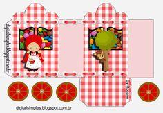 Caperucita Roja: Caja con forma de Carruaje para Imprimir Gratis.