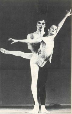 Noëlla Pontois et Rudolf Noureev (Photographie : Colette Masson)