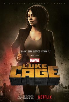 """Misty Knight // Marvel's Luke Cage (2016)Portrayed by Simone Missick, """"Mercedes """"Misty"""" Knight was born and raised in New York City. She graduated the Police Academy with honors and joined the..."""