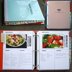 Homemade Recipe Book using Document Life Workshop Recipe Template Set by Megan Anderson {picture with info at bottom}