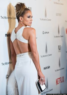 J.Lo brings the heat in this little white number