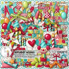 After Five Designs::Full Kits::Birthday Wishes, by Kristin Aagard