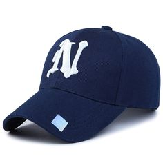 ceeb703b40cd1 Baseball Cap Solid color leisure hats with N letter embroidered cap for men  and women