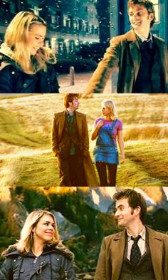 Doctor Who 30 Day Challenge Day Twenty One: 'Favourite Couple' The Tenth Doctor and Rose Tyler. <3