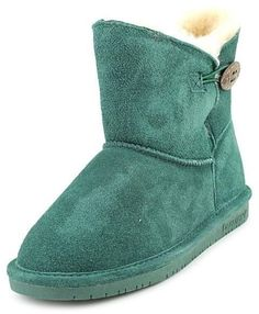 Bearpaw Rosie Womens Green Regular Suede Winter Boots