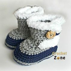 Fuzzy BootiesThis crochet pattern / tutorial is available for free... Full post: Fuzzy Booties