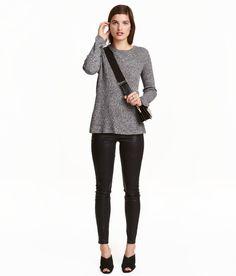 Treggings aus Superstretch   Schwarz/Coating   Damen   H&M DE