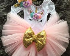 Your place to buy and sell all things handmade Birthday Tutu, Unicorn Birthday, 5th Birthday, Party Unicorn, Ribbon Tutu, Unicorn Outfit, My Baby Girl, Party Themes, Best Gifts