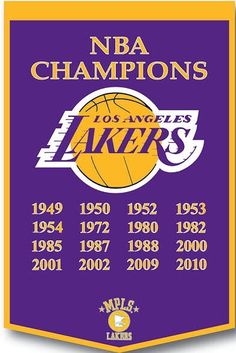 NBA CHAMPIONS FOR LAKERS