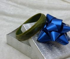 Bakelite Bangle Carved Faceted Mossy Green Simichrome Tested Green Carved Bakelite Bracelet Unique Art Deco Bakelite Jewelry Gift for Her by CrowsNestAntiques on Etsy