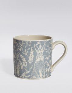 Farmhouse Blue Mug   Marks & Spencer London