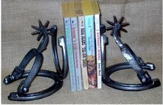 Horseshoes and spurs bookends