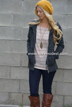 www.sexymodest.com  #fall #fashion #design #boots #love #beautiful #pretty #fashionblog #swag #beanie #jacket #nordstrom  Follow us on Instagram @modestshoppin