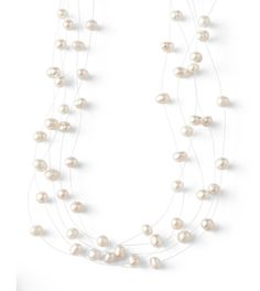 Pearlette Necklace $58 There's no mistaking the creamy luster of genuine freshwater pearls in this illusion necklace.