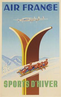 KOW, ALEXIS (ALEXEI KOGEYNIKOV, 1901-1978)   AIR FRANCE   lithograph in colours, 1951