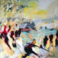 "Jac Volbeda  ""Yellow landscape"" #volbeda #art 100 x 100 cm"