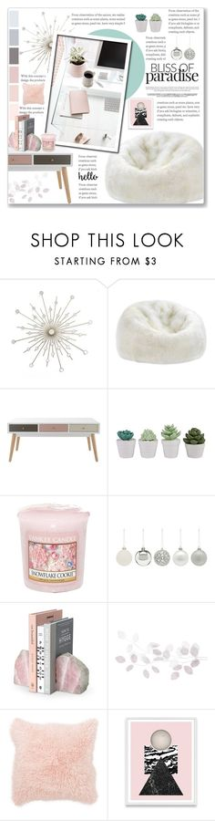 """""""#HOME : Pink Home"""" by sweetnovember66 ❤ liked on Polyvore featuring interior, interiors, interior design, home, home decor, interior decorating, Dot & Bo, Yankee Candle, A by Amara and Nordstrom Rack"""