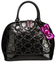 Gorgeous black Hello Kitty purse http://www.welovekitty.com/hello-kitty-handbags-purses-loungefly-reviews/