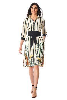 dc6eefe538b I  lt 3 this Obi belt geisha print crepe shift shirtdress from eShakti Plus  Size