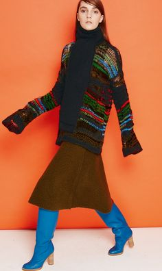 #MMissoni | MULTICOLOR MOHAIR SWEATER & ARMY SKIRT | Winter 2014-2015 Collection