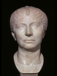 CE) Portrait Bust of a Matron Roman Hairstyles, Roman Art, Greeks, Ancient Rome, Artemis, Roman Empire, Portrait, Archaeology, Statue