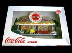 Coca Cola Wall Clock 3 D Burwood Retro Family by GoshenPickers