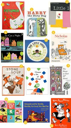 My mother read most of these books to me when I was a child. Loved all the Harry the Dirty Dog books. I cried over The Little House. Stone Soup is classic, as well as Mrs. Piggle-Wiggle. And loved the House on 88th Street (Lyle, Lyle Crocodile). But Alexander and his Horrible etc.Day was the perfect book. Yes, we all have bad days sometimes. Thanks mom, for reading to me!